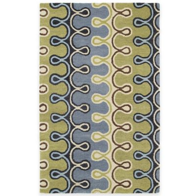 Kaleen Casablanca Axel 7-Foot 6-Inch x 9-Foot Area Rug in Blue