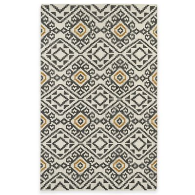 Kaleen Nomad Tribal 8-Foot Square Area Rug in Charcoal