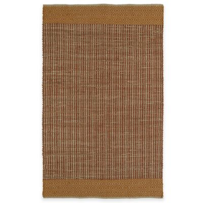 Kaleen Colinas Diamond Border 1-Foot 9-Inch x 2-Foot 10-Inch Accent Rug in Paprika