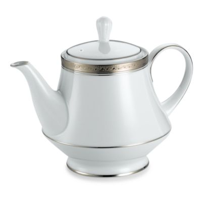 Noritake® Crestwood Platinum 38-Ounce Tea Pot