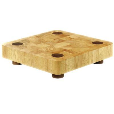 Typhoon® Square 13-Inch x 13-Inch Wood Butcher Block