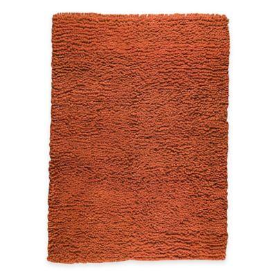 M.A. Trading Berber Plush 5-Foot 6-Inch x 7-Foot 10-Inch Area Rug in Orange