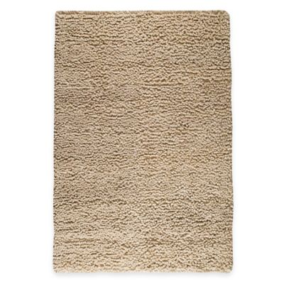 M.A. Trading Berber Plush 5-Foot 6-Inch x 7-Foot 10-Inch Area Rug in Tan