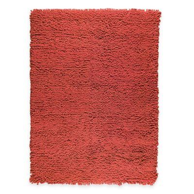M.A. Trading Berber Plush 5-Foot 6-Inch x 7-Foot Area Rug in Red