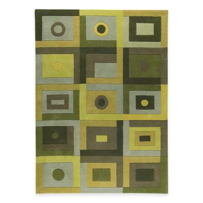 Berlin 2-Foot 8-Inch x 7-Foot 10-Inch Runner in Green