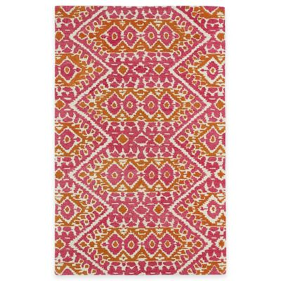 Kaleen Global Inspirations Tribal Zig Zag 3-Foot 6-Inch x 5-Foot 6-Inch Area Rug in Pink