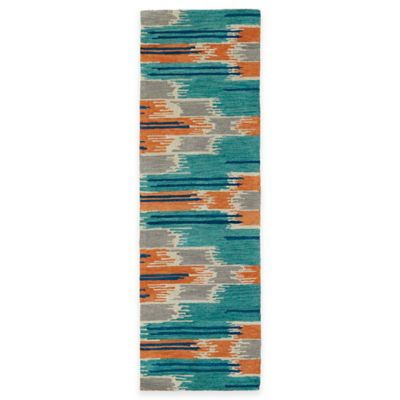 Kaleen Global Inspirations Watercolor Ikat Multicolor 2-Foot 6-Inch x 8-Foot Runner