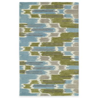 Kaleen Global Inspirations Watercolor Ikat 5-Foot x 7-Foot 9-Inch Rug in Wasabi