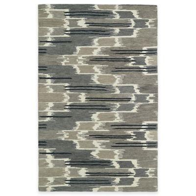 Kaleen Global Inspirations Watercolor Ikat 8-Foot x 10-Foot Area Rug in Grey
