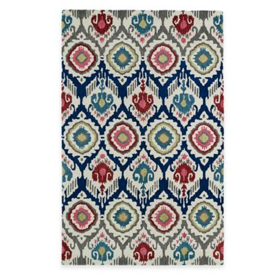 Kaleen Global Inspirations Boho 3-Foot 6-Inch x 5-Foot 6-Inch Multicolor Area Rug