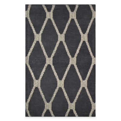 Diamond 2-Feet 6-Inch x 4-Feet Woven Tapestry Rug in Blue