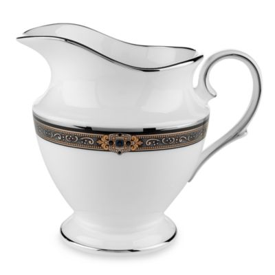 Lenox® Vintage Jewel® Creamer in White/Platinum