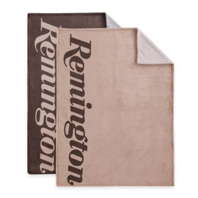 Remington® Bottom Dyed Reversible Throw in Mocha