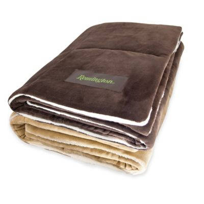 Remington® Ultra Velvet Throw Blanket in Taupe
