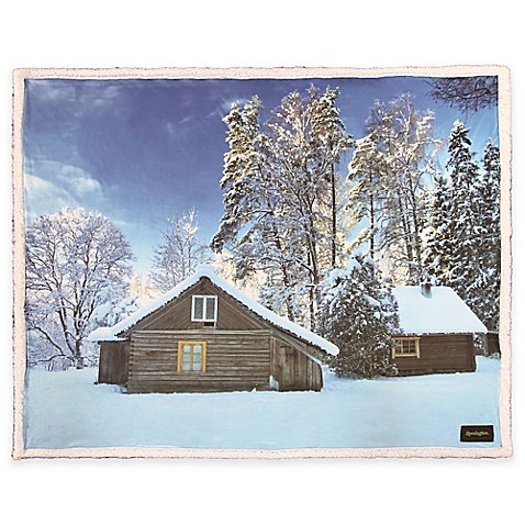 Buy Remington 174 Photoreal Cabin Printed Throw From Bed Bath