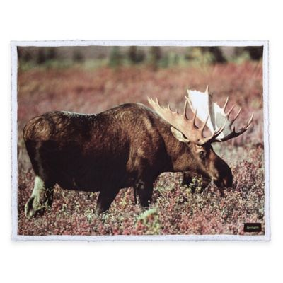 Remington® Photoreal Moose Printed Throw