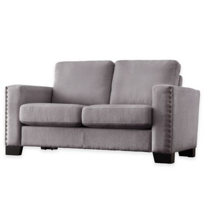 Grey Accent Loveseat