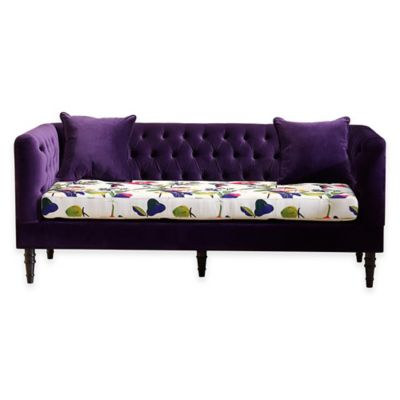 Baxton Studio Freya Sofa in Purple Floral