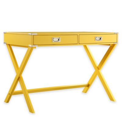 Verona Home Callie Campaign Writing Desk in Yellow