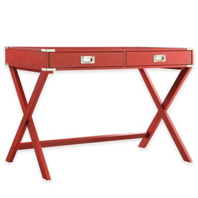 Verona Home Callie Campaign Writing Desk in Red