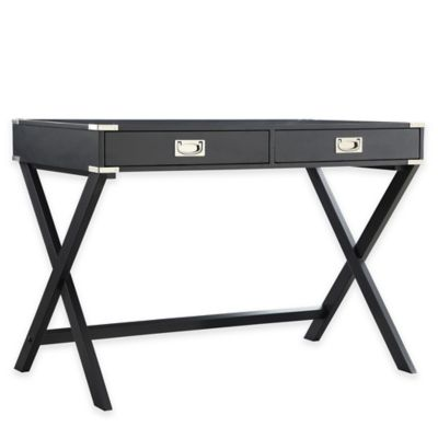 Verona Home Callie Campaign Writing Desk in Midnight
