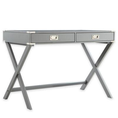 Verona Home Callie Campaign Writing Desk in Grey