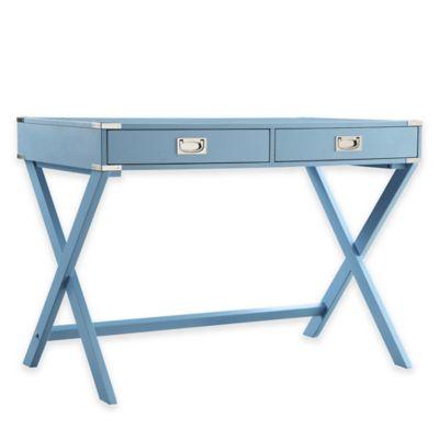 Verona Home Callie Campaign Writing Desk in Blue