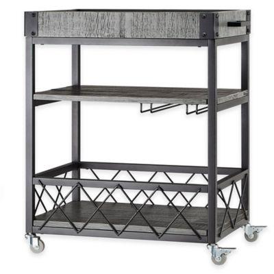 Verona Home Parkway Bar Cart in Grey