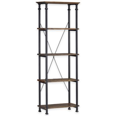 Verona Home Parkway 26-Inch Bookcase in Brown