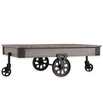Verona Home Parkway Factory Cocktail Table in Grey