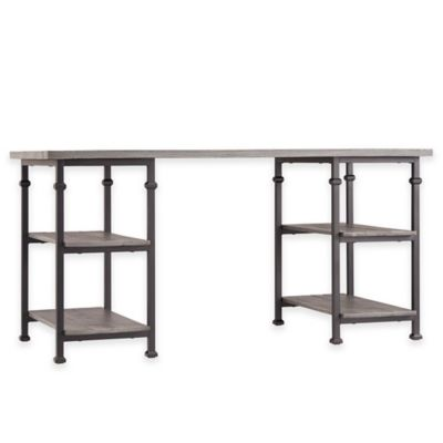 Verona Home Parkway Writing Desk in Grey