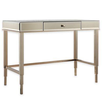 Verona Home Stella Desk in Champagne Gold