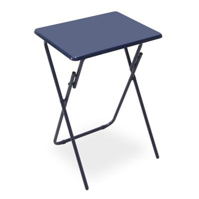 Folding Snack Tray Table in Blue