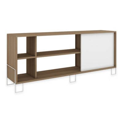 Manhattan Comfort Nacka TV Stand 2.0 Oak/White