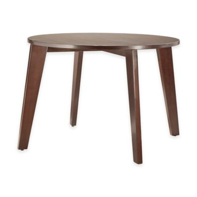 Verona Home Hudson Round Dining Table in Espresso