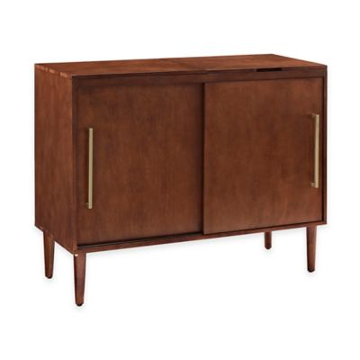 Buy Crosley Everett Record Player Stand In Mahogany From