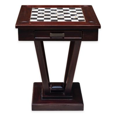 Uttermost Fineas Wood Game Table in Mahogany