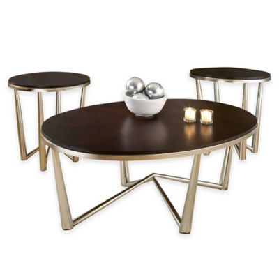 Steve Silver Co. Cosmo 3-Piece Table Set in Espresso