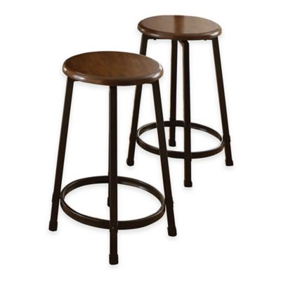 Steve Silver Co. Rebecca Counter Stools in Wood/Metal (Set of 2)