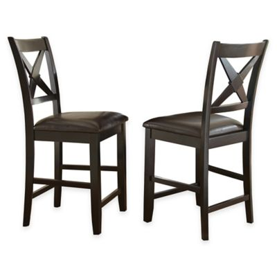 Steve Silver Violante Counter Chairs in Black (Set of 2)