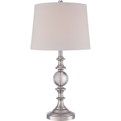 Quoizel Buckler Table Lamp in Polished Nickel