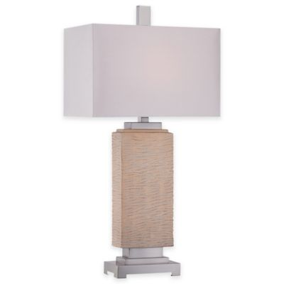 Quoizel Boone Table Lamp with Fabric Shade