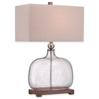 Quoizel Brookmont Table Lamp in Brushed Nickel with Linen Shade