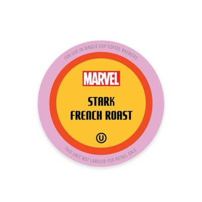 10-Count Marvel Iron Man Stark French Roast Coffee Pods for Single Serve Coffee Makers