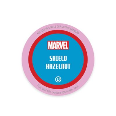 10-Count Marvel Capt'n America Shield Hazelnut Coffee Pods for Single Serve Coffee Makers