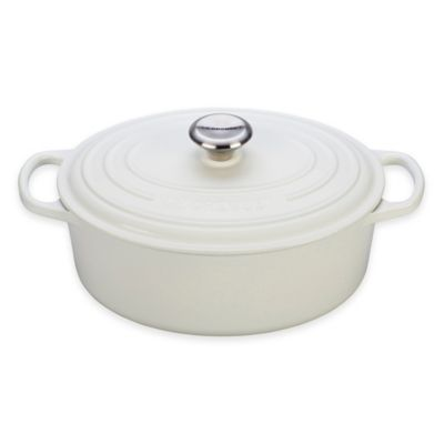 Le Creuset® Signature 5 qt. Oval French Oven in White