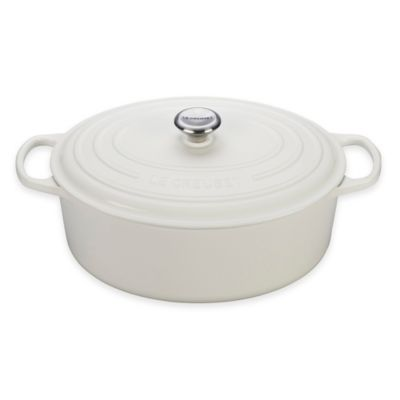 Le Creuset® Signature 9.5 qt. Oval Dutch Oven in White