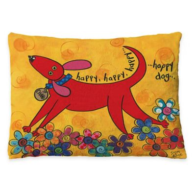 "Laural Home ""Happy Dog"" Fleece Dog Bed"