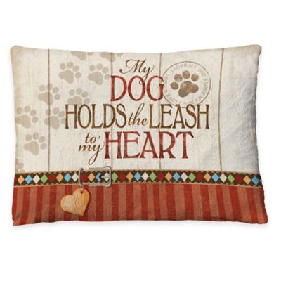 "Laural Home ""Holds the Leash"" Fleece Dog Bed"
