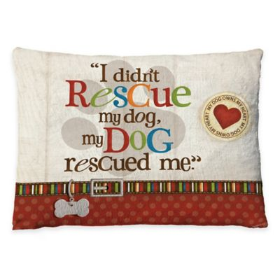 "Laural Home ""My Dog Rescued Me"" Fleece Dog Bed"